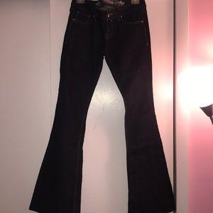 Dark denim flare jeans from Express